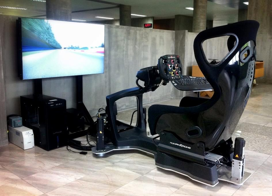 car racing game simulator game chair