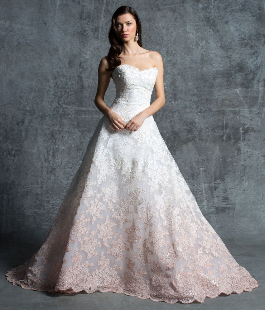 Ombre Wedding Dress: Ombré Colors, Foil Detailing & Rare Laces Are The Newest