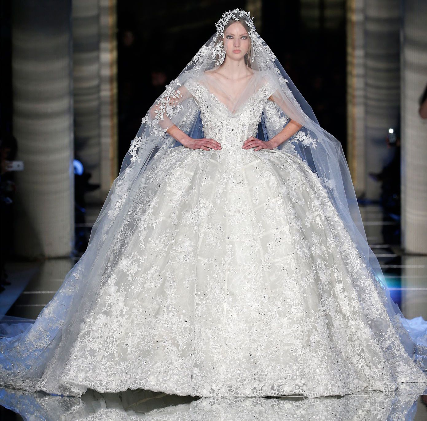 Zuhair Murad Cages His Fairy Tale Models in 18th Century-Inspired ...