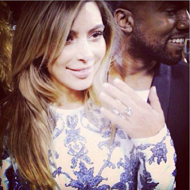 Kim Kardashian kanye west engagement