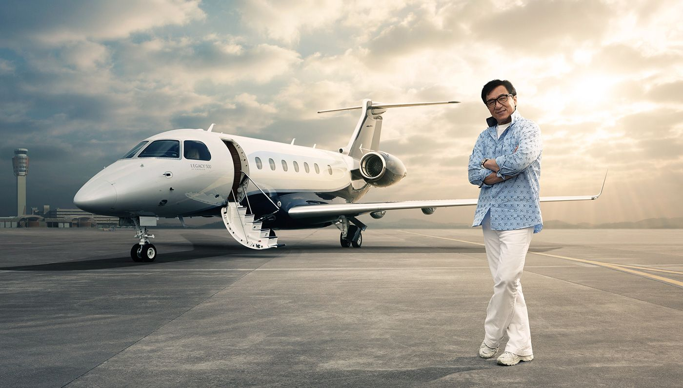 jackie chan, private jet
