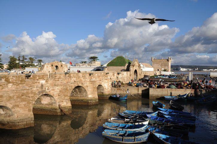 Stone archways provide entrance to the medina.