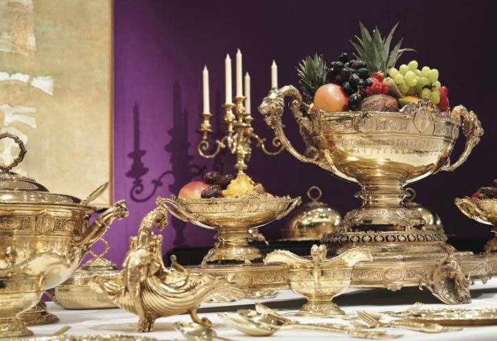 Maharaja's $3M Banquet Service  Faberge Museum