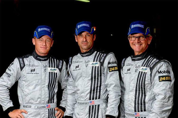 Patrick Dempsey and racing team