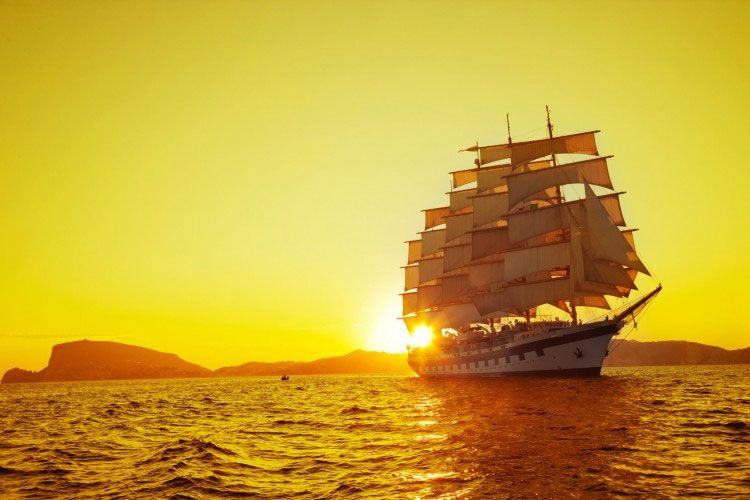 Star Clippers' sunset views