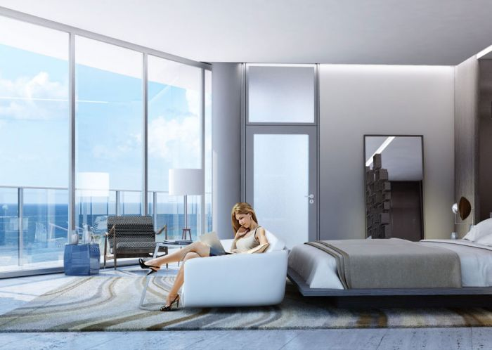 A bedroom at the luxe ONE Ocean