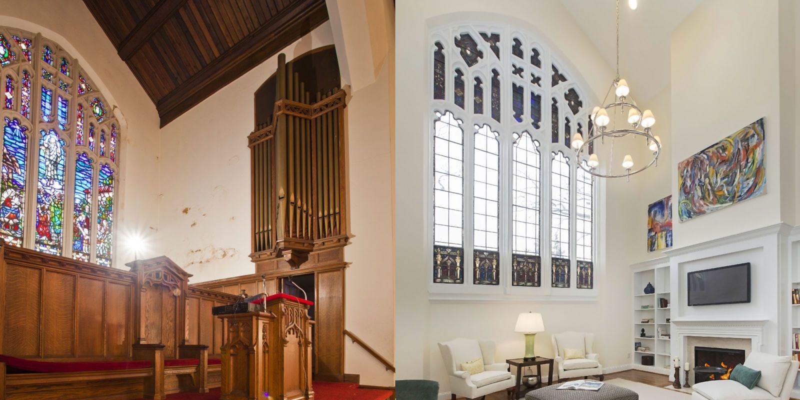 main line rebuild, church, luxury real estate