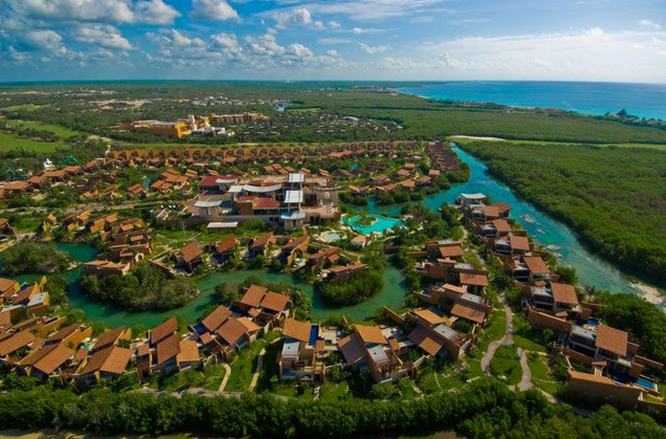 banyan tree mayakoba aerial view