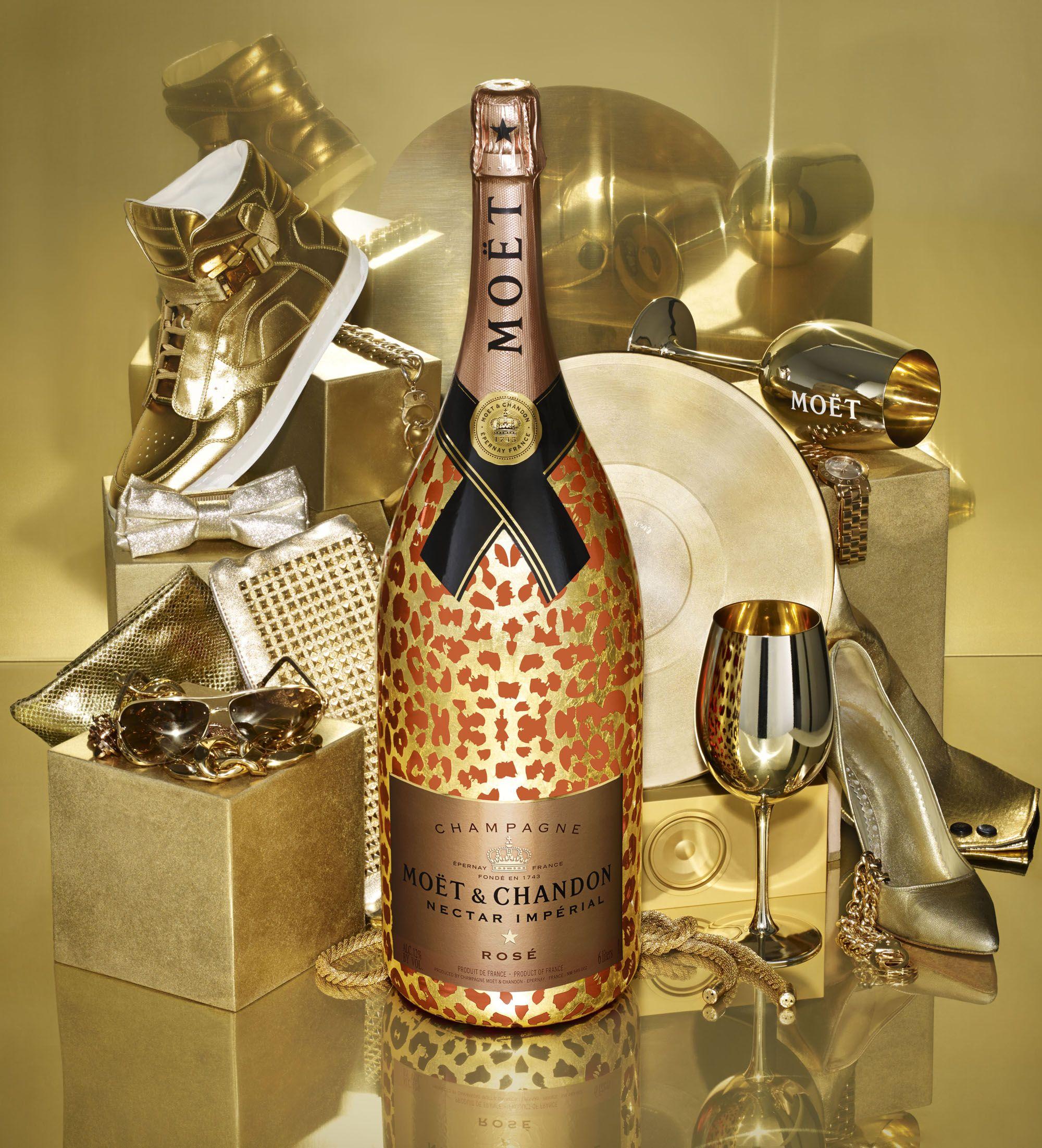 Moët & Chandon Nectar Impérial Rosé Leopard Champagne