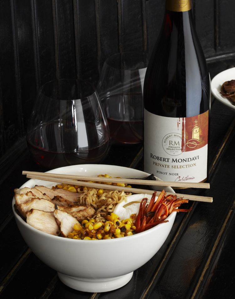 Chef justin warners tricked out ramen using robert mondavi private chef justin warners tricked out ramen using robert mondavi private selection pinot noir forumfinder Gallery