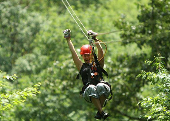 Zip lining navitat canopy adventures