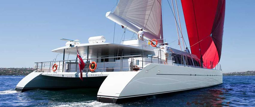 necker belle richard branson catamaran