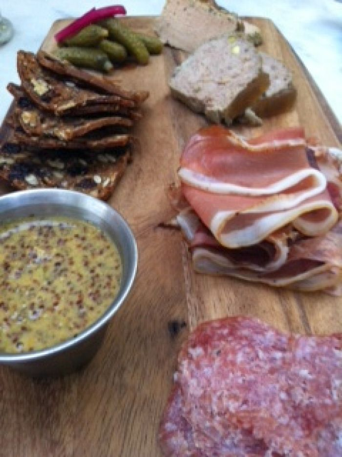 Charcuterie plate at Lindey's