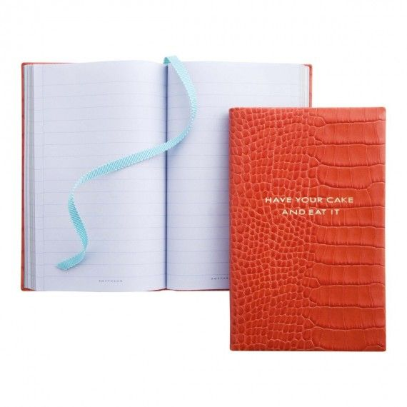Have Your Cake And Eat It Notebook by Smythson