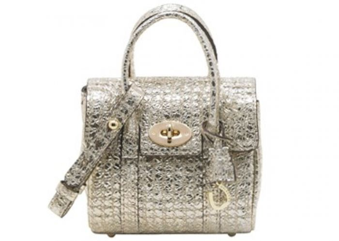Mulberry Shrunken Bayswater in Diamond Sparkle