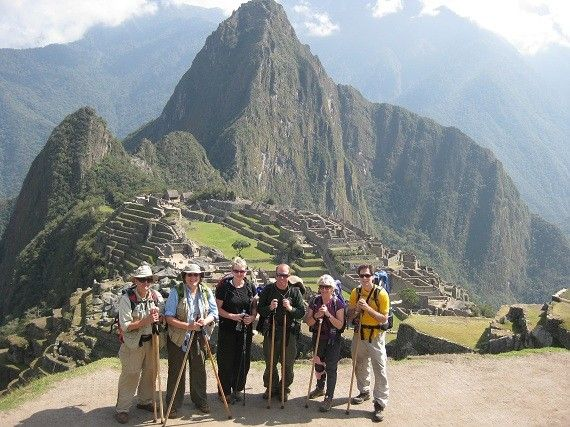 Gene, Betsy, Carolyn, Brian, Karen and Matthew at Machu Picchu