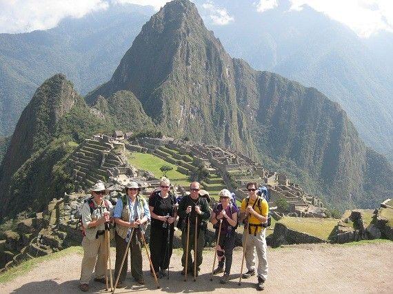 Gene, Betsy, Carolyn, Brian, Karen and Matthew at Machu Picchu