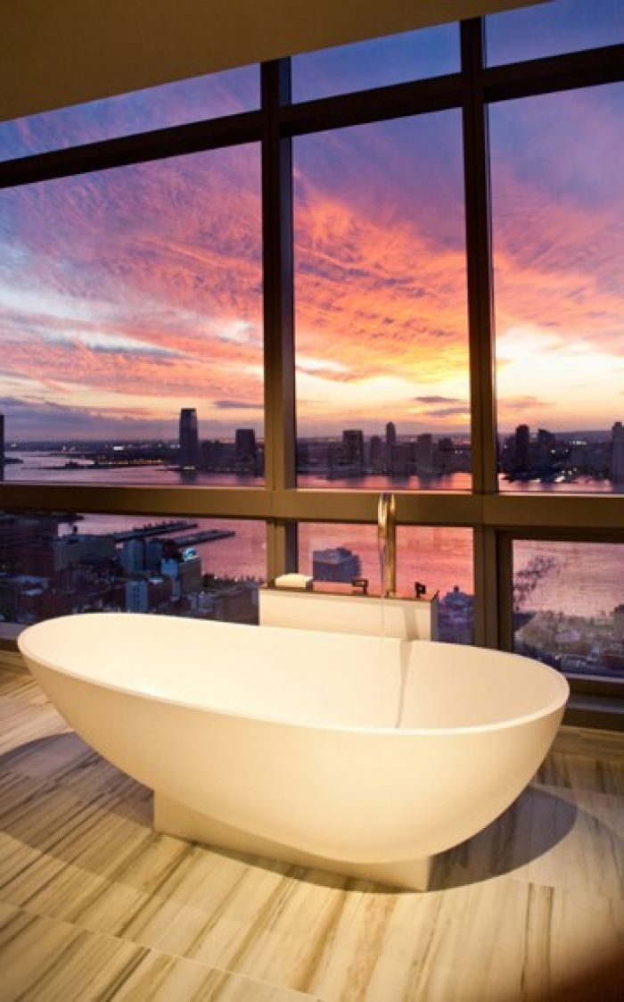 Trump SoHo Bathroom with a view