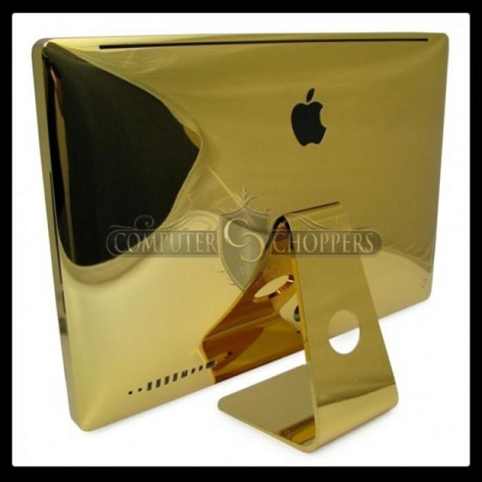 Gold iMac From Computer Choppers