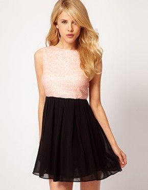 TFNC Babydoll Dress With Sequin Bodice from ASOS