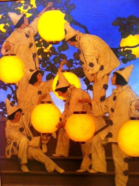 Lantern Bearers by Maxfield Parish