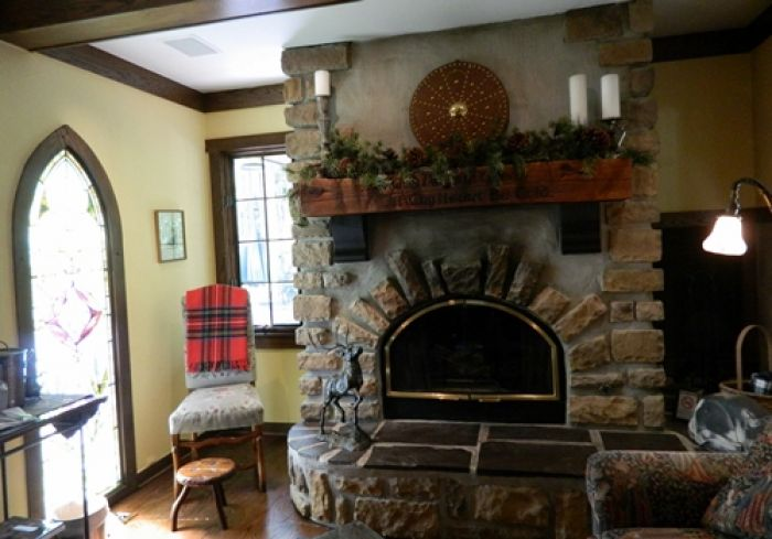 The hearth at Ohio's Glenlaurel