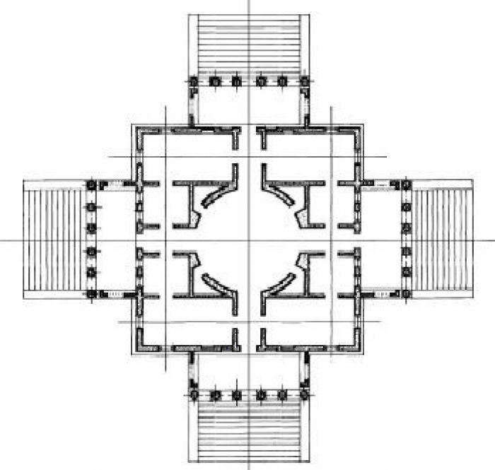 Plan of the Villa Capra, Vicenza, Andrea Palladio