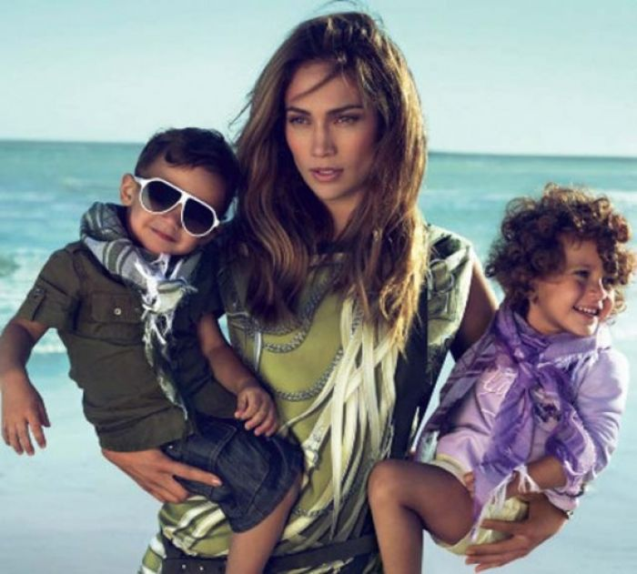 Jennifer Lopez and Fashionable Kids
