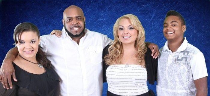 Shawn Davis, aka Chef Big Shake, with his family