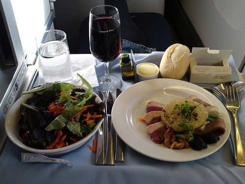 Business class meals