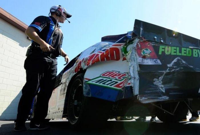 Earnhardt Jr's Crashed Car