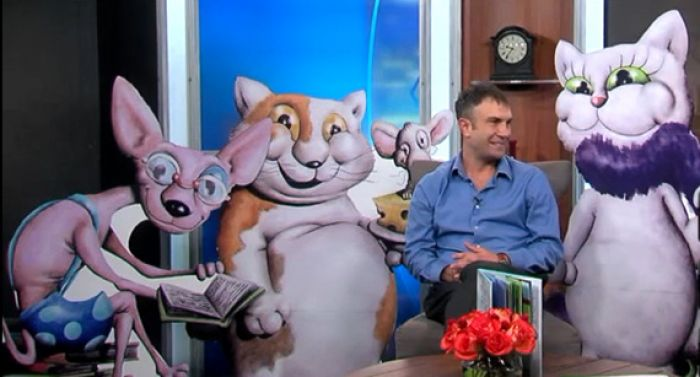 Peter Goodman and his Kitty Friends