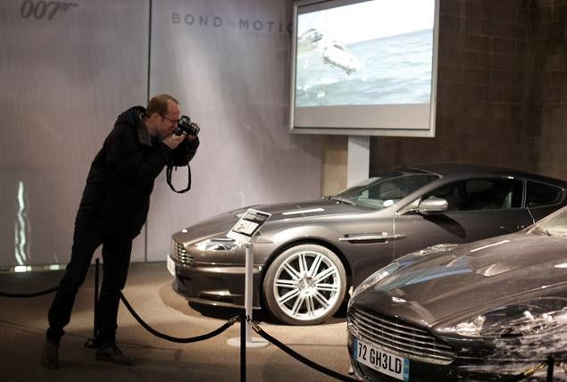 Bond's Aston Martins Display