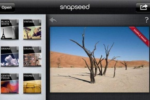 Snapseed Dashboard