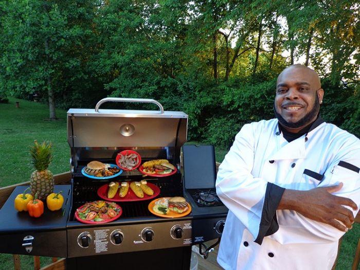 Shawn Davis, aka Chef Big Shake at the Grill