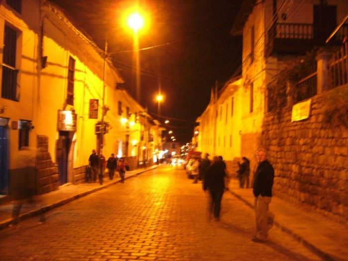 Cuzco Streets at Night