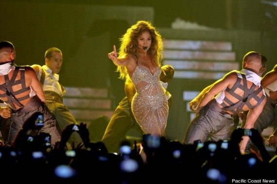 Jennifer Lopez performing in Bologna, Italy, the night she had