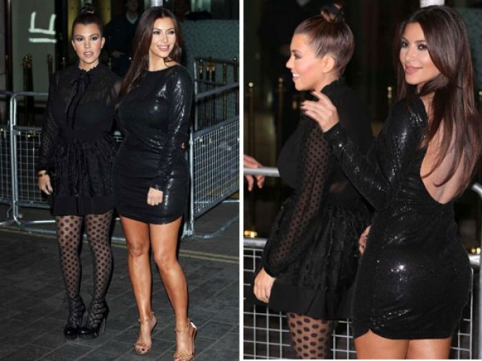 Kim and Kourtney