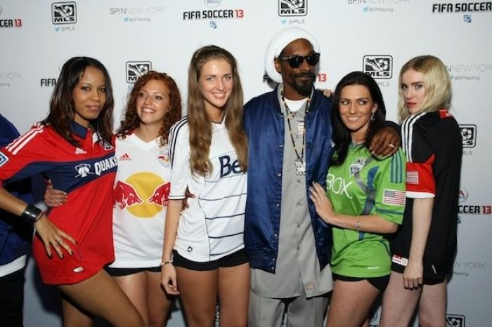 Snoop at a FIFA 13 launch party