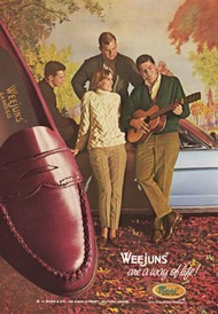 Ad for Bass 'Weejuns' Loafers