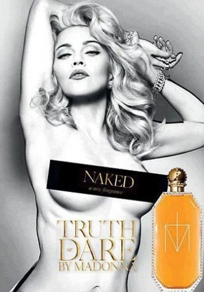 Madonna recreates decades-old pose for perfume ad