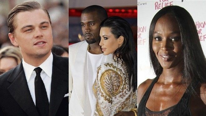 DiCaprio, West/Kardashian, Campbell
