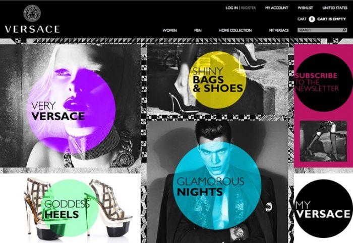 Versace goes online