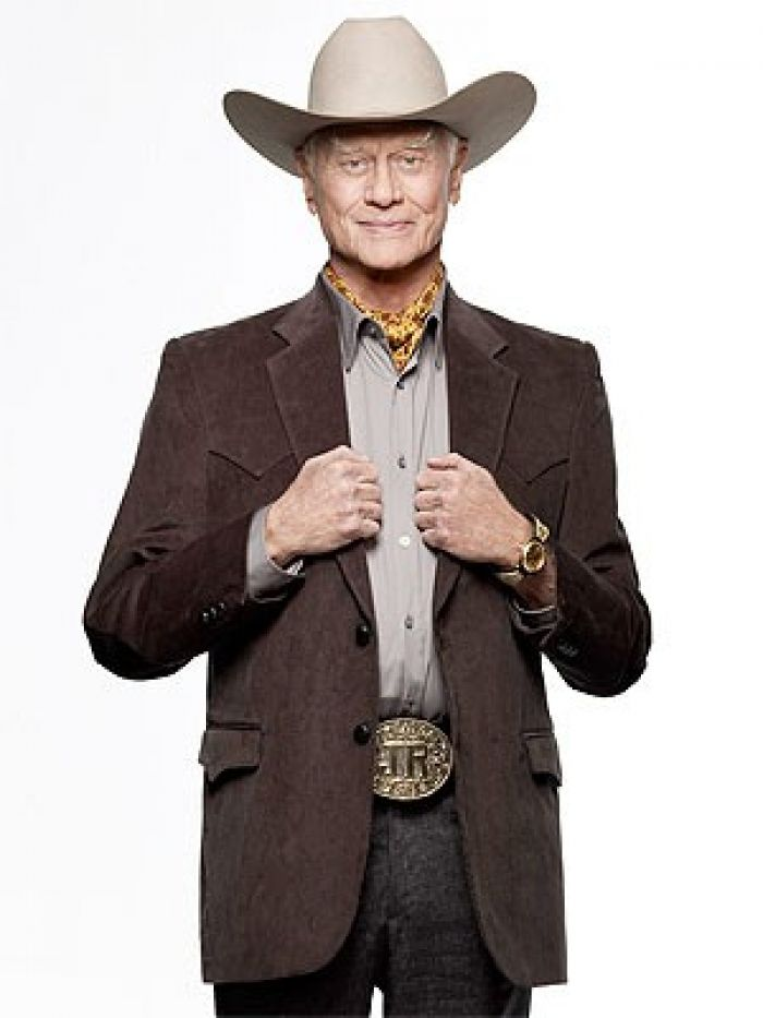 Larry Hagman as J.R. Ewing