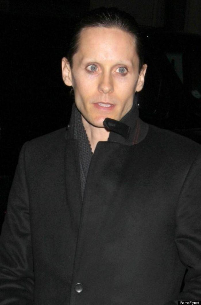 Eyebrowless Jared Leto