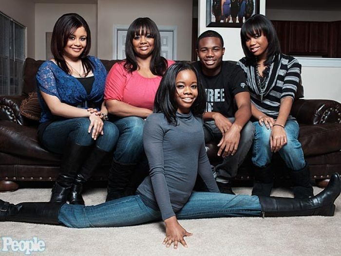 Gabby Douglas and family