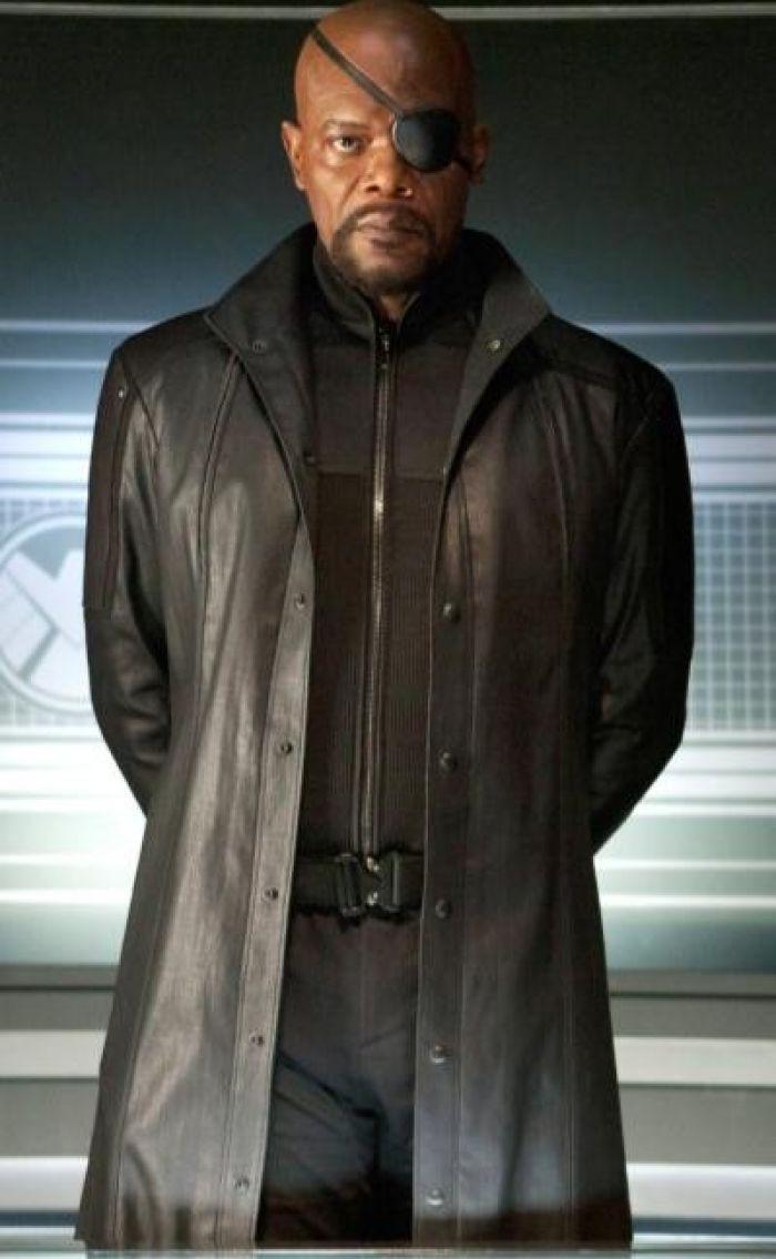 The Avengers 2012 Nick Fury Long Christmas Coat
