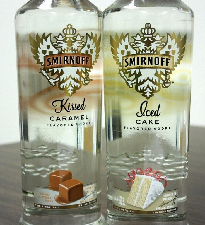 Smirnoff Kissed Caramel & Iced Cake Flavored Vodkas