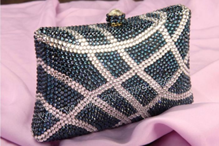 Blue Crystal Purse For Weddings