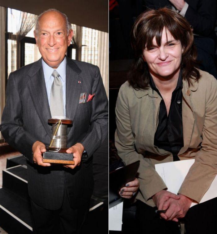 Oscar de la Renta and Cathy Horyn